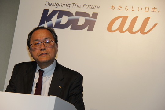 KDDI田中社長、営業利益9130億円で好調も冷静「終わってみると好決算」