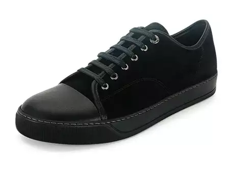ランバン「Men's Cap-Toe Leather Low-Top Sneaker」