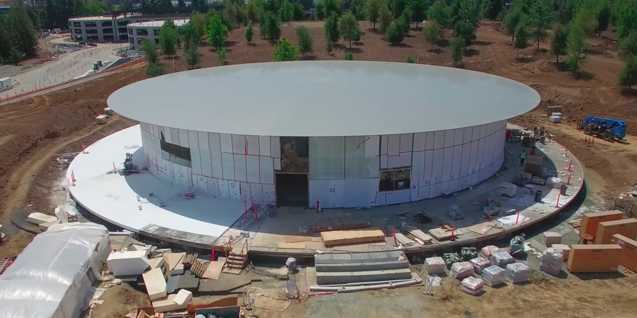 closer look of the Steve Jobs Theater