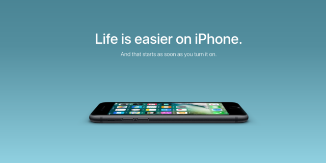 iPhoneへの切り替えを促す広告