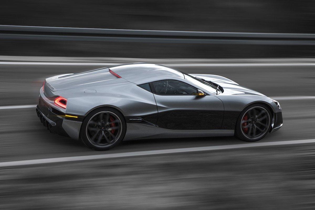 Rimacのコンセプトカー「Concept_One」、加速中の様子