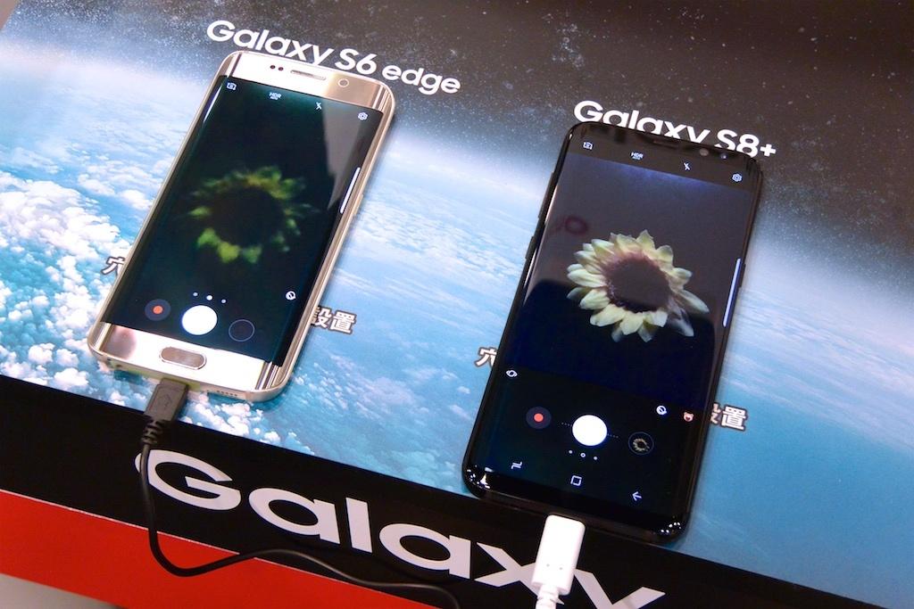 Galaxy S8+とS6 edgeを比較