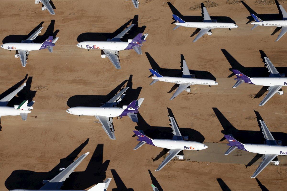 並んで置かれた機体