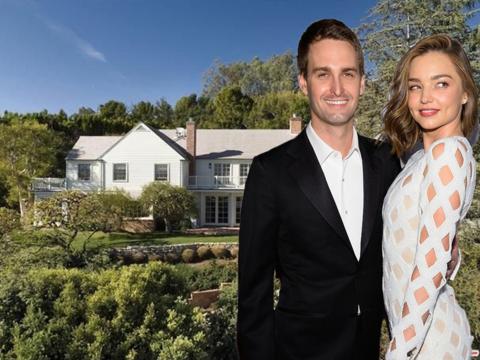 ミランダ・カーとSnapのCEOが挙式した自宅をチェック