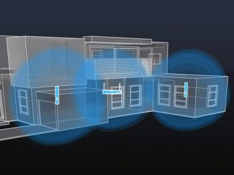 Wi-Fiを使った3D透視技術