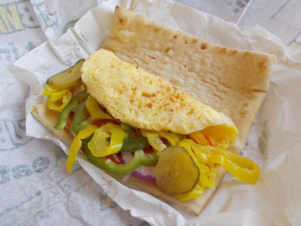 サブウェイ―卵とチーズのサンドイッチ