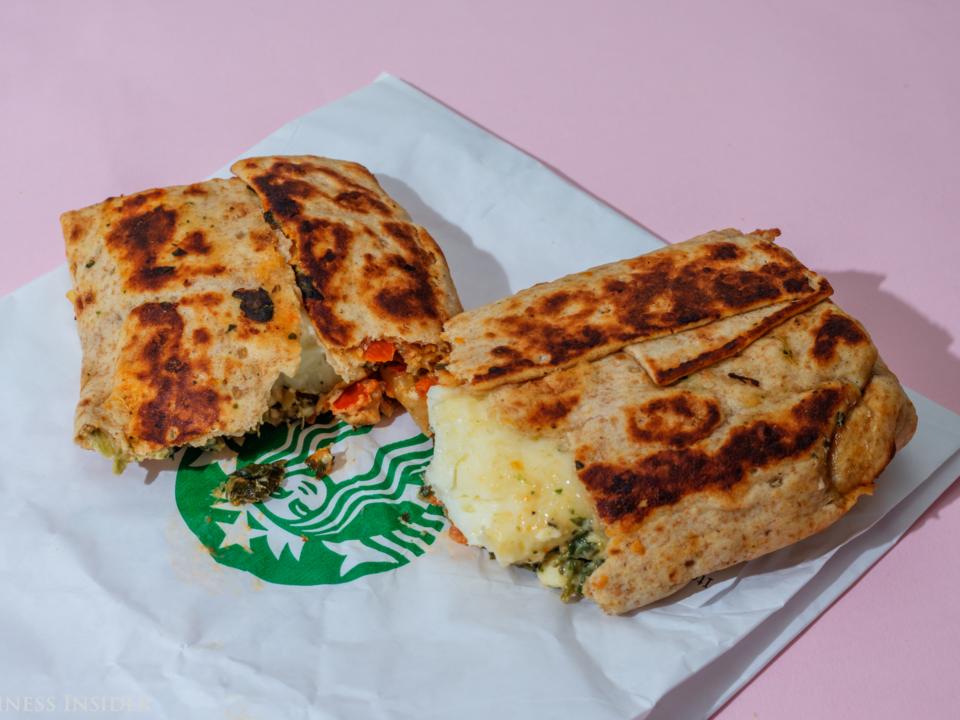 スターバックス―ほうれん草とフェタチーズのラップ