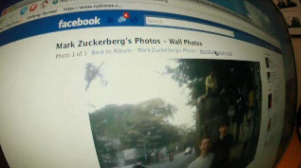 ザッカ―バーグのFacebookアカウント画面