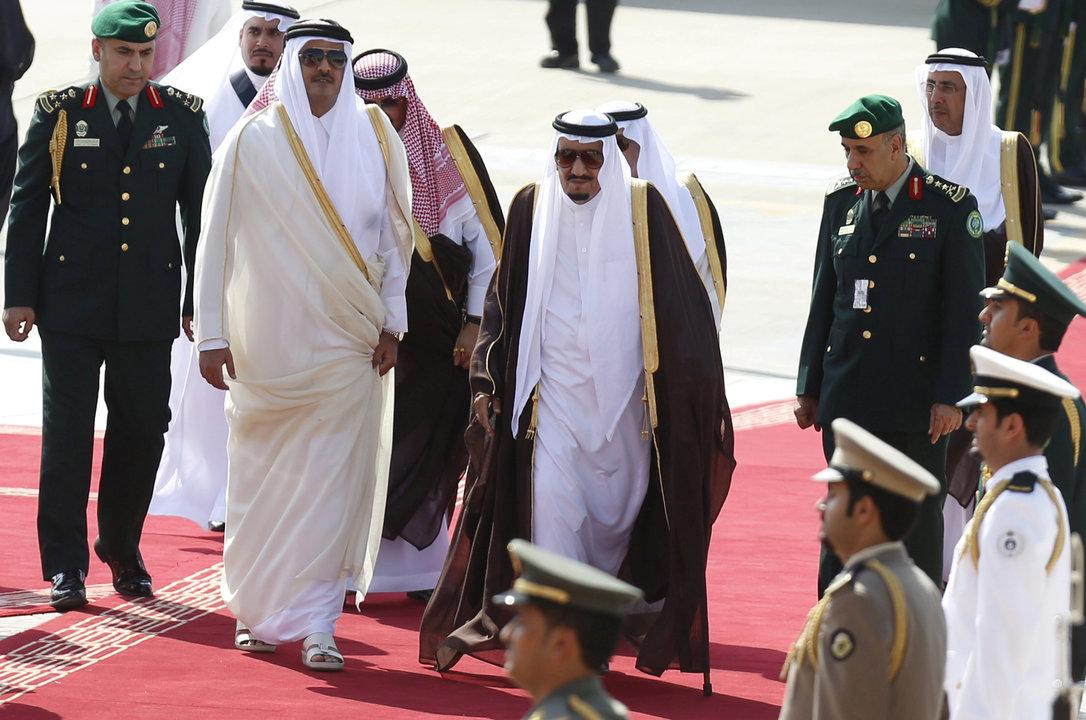 サウジアラビアのサルマン国王とカタールのタミム首長