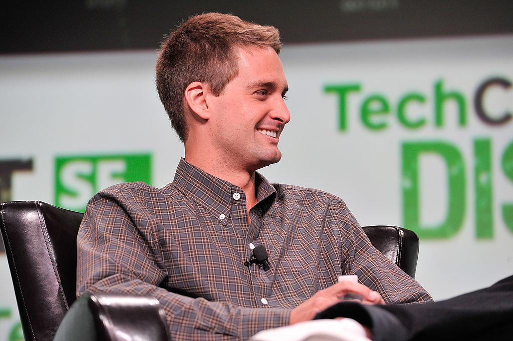 TechCrunchのカンファレンスに登壇するエヴァン・シュピーゲル