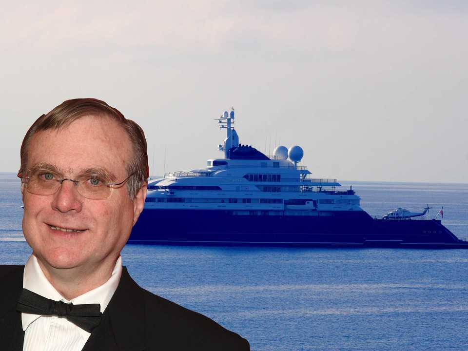 アレン氏のプライベートヨット
