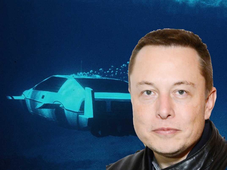 マスク氏の潜水艦