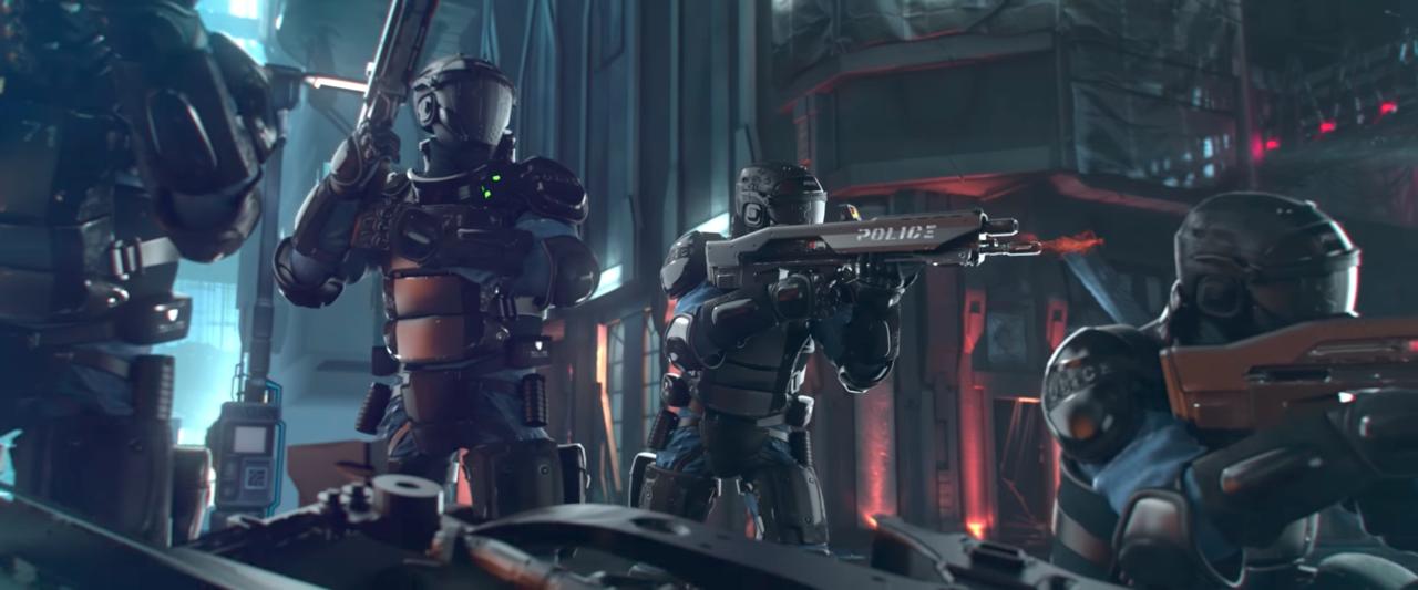 『Cyberpunk 2017』のファーストトレーラーの一コマ