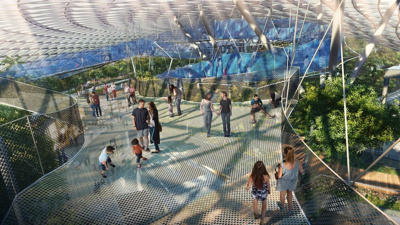 キャノピー・パークに設置されたスカイネットのイメージ