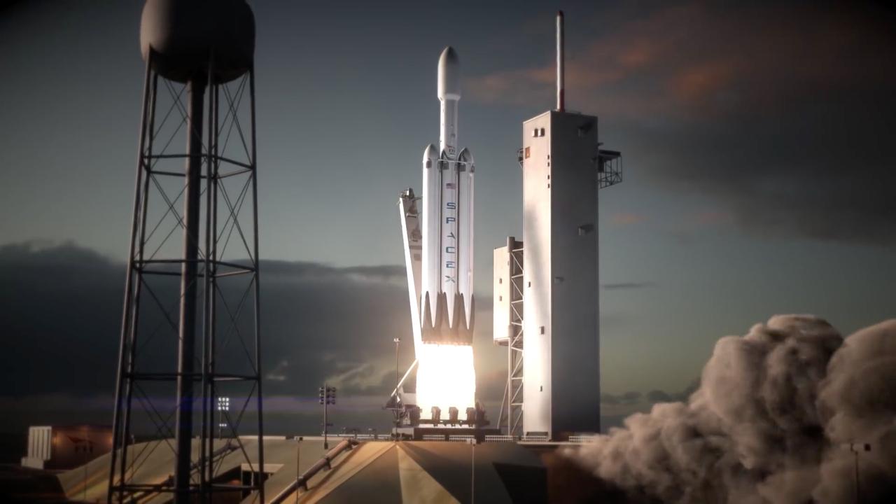 Falcon Heavyの打ち上げイメージ
