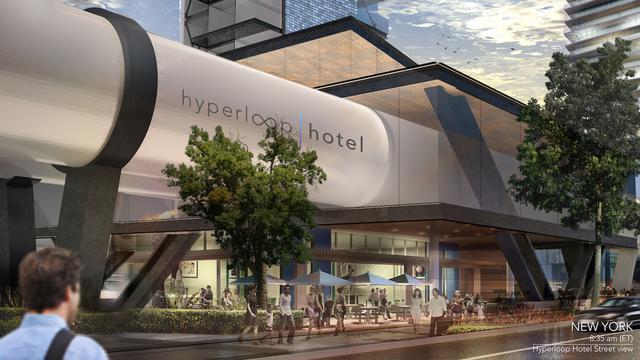 イーロン・マスクに刺激を受けて「ハイパーループ・ホテル」を考案 —— 部屋ごと都市間移動する