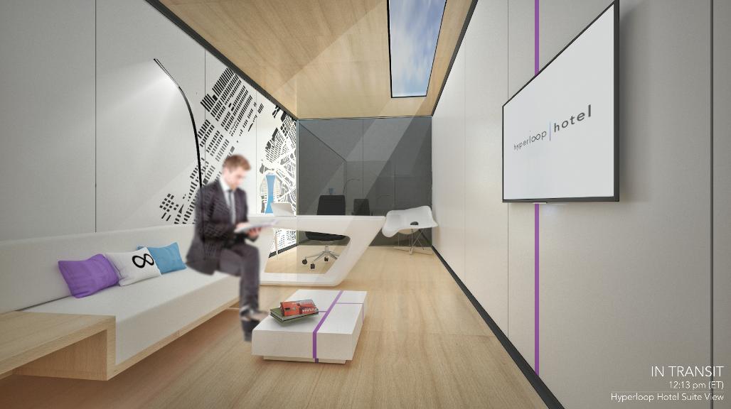 hyperloophotelの部屋内の写真