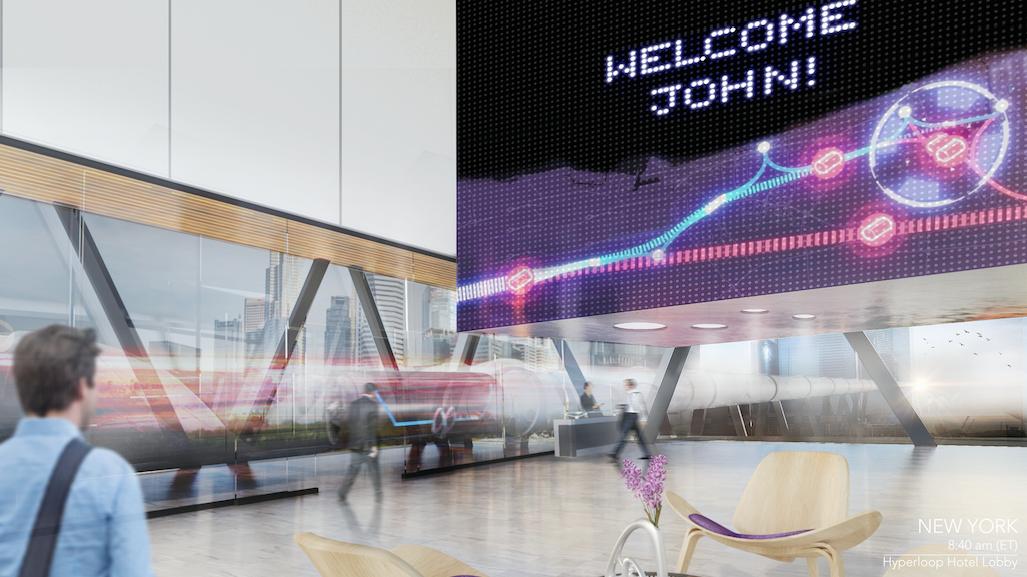 hyperloophotelの電光掲示板