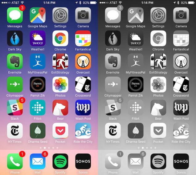スマートフォン画面比較