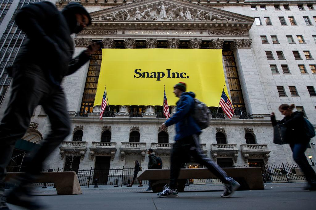 スナップ、ニューヨーク証券取引所で取引開始