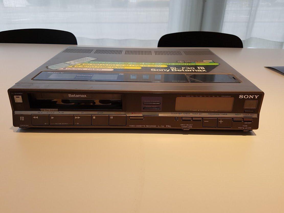 ソニーのカセット式ビデオテープレコーダー「ベータマックス」