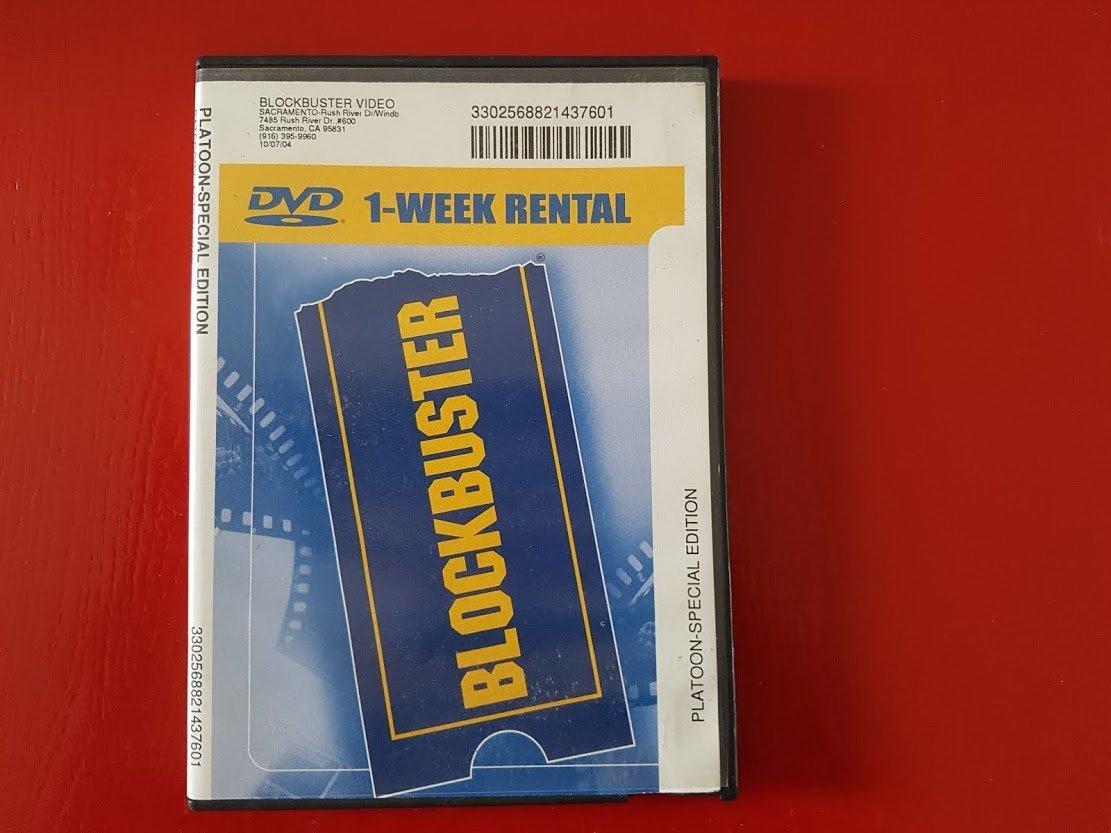 アメリカのレンタルビデオチェーン大手Blockbusterから貸し出されていたDVDのパッケージ