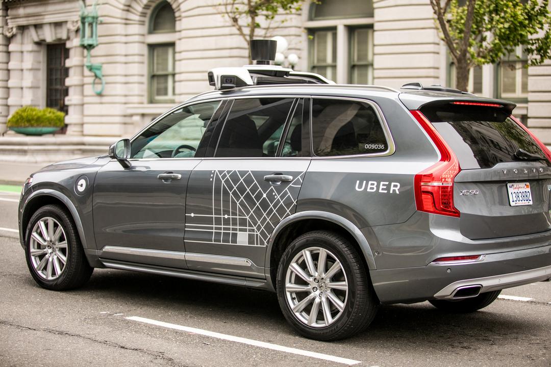 Uberの自動運転型ボルボXC90 SUV