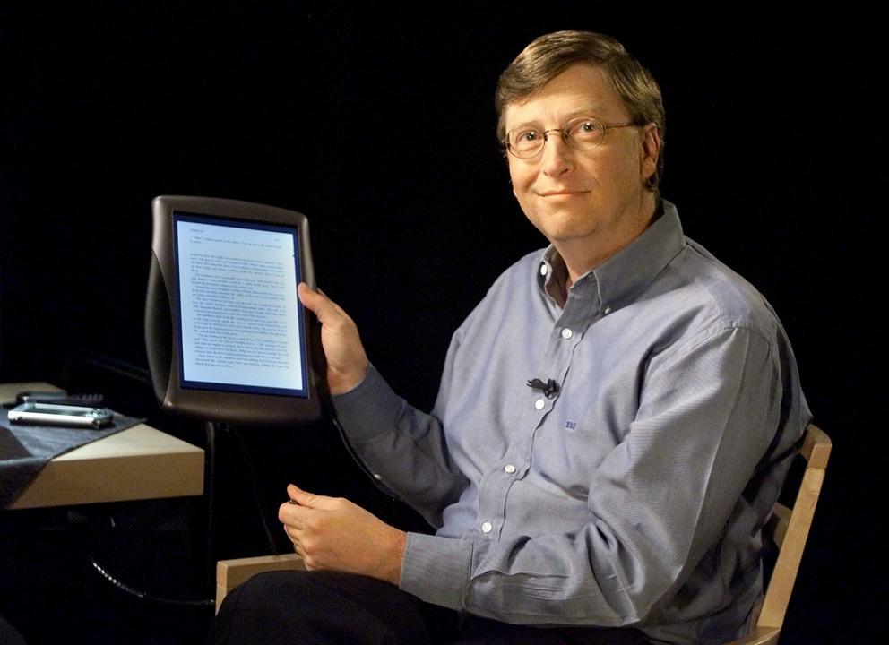 ビル・ゲイツ氏とマイクロソフトのタブレット
