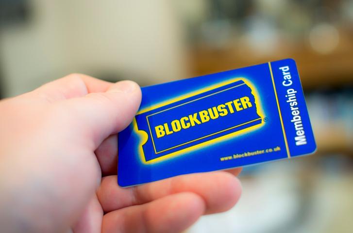 ブロックバスターのメンバーカード