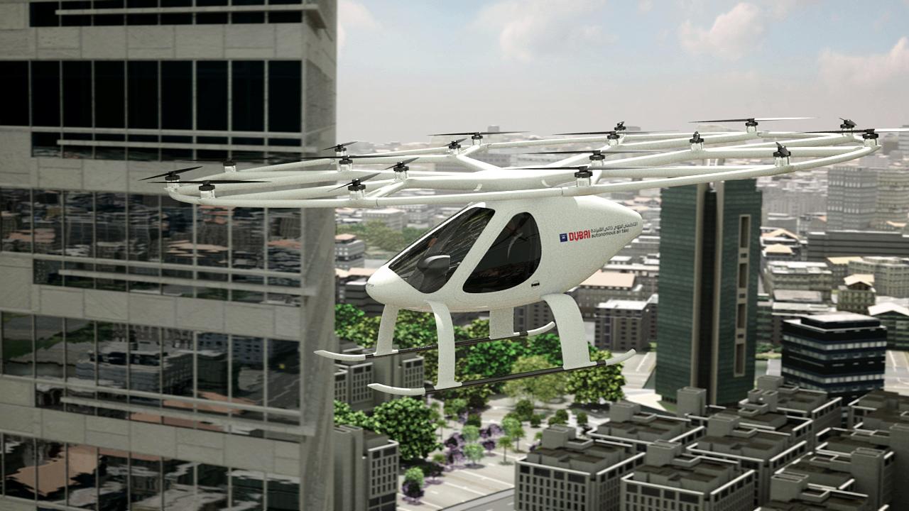 空飛ぶタクシーの走行イメージ
