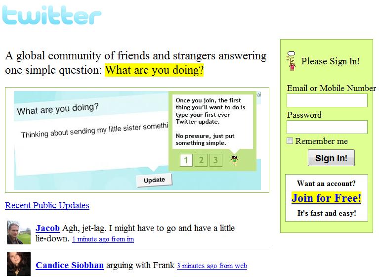 Twitter、2006年