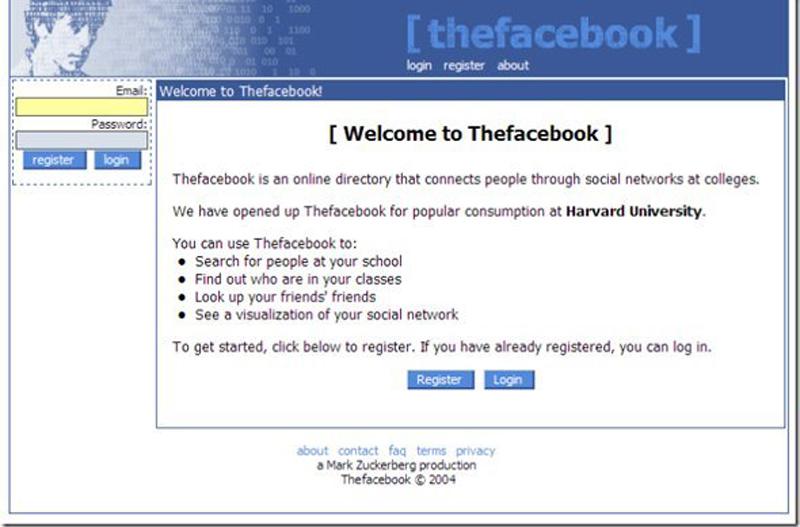 Facebook、2004年