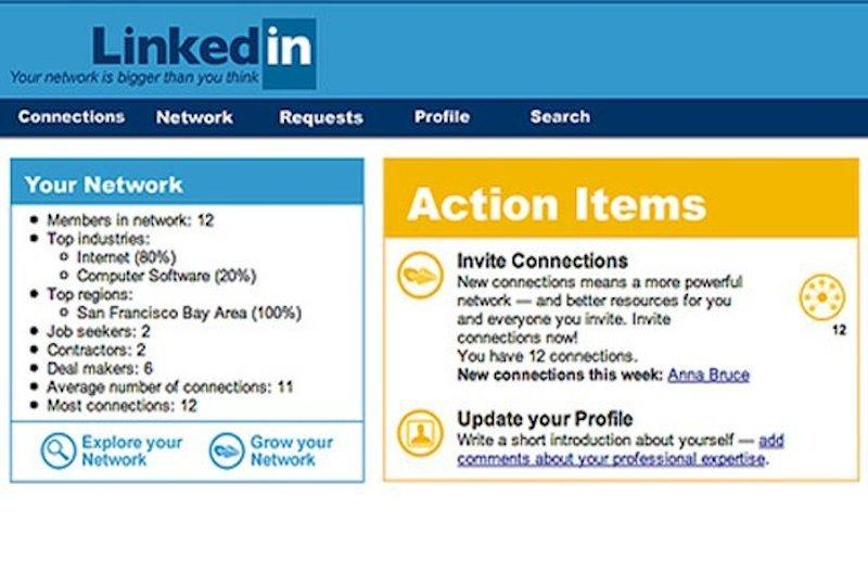 LinkedIn、2003年
