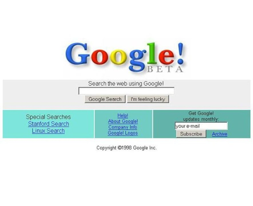 グーグル、1998年