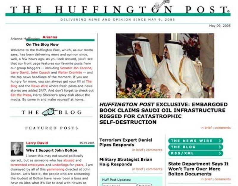 ハフィントン・ポスト、2005年