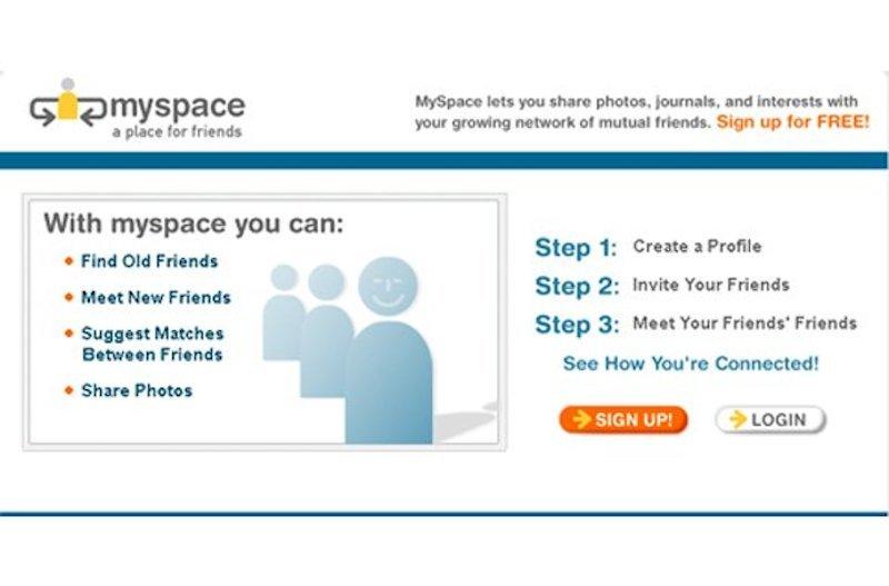 MySpace、2003年