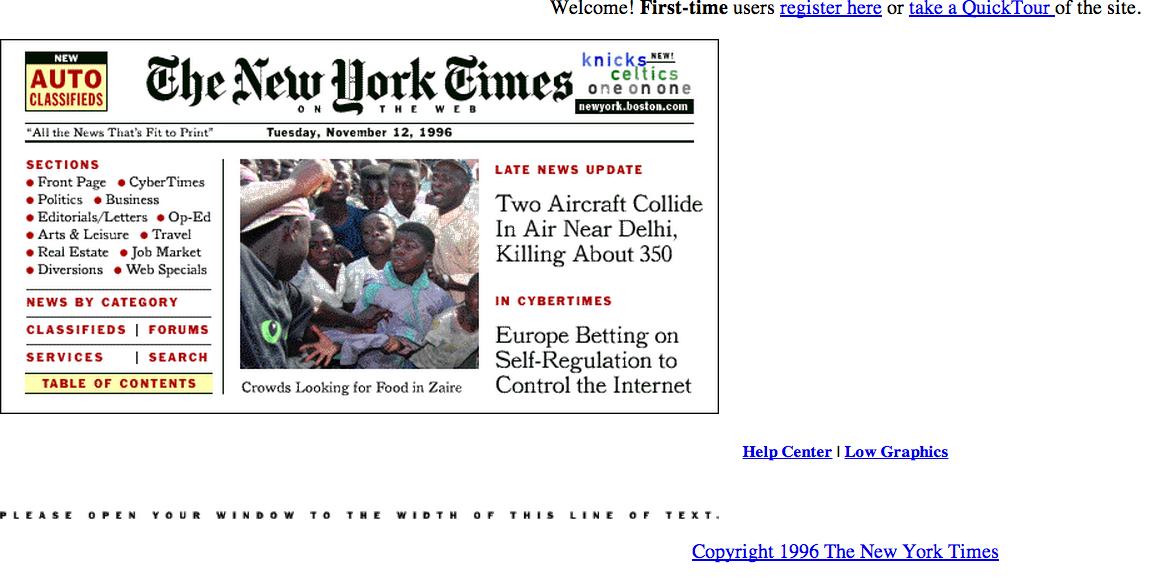 ニューヨーク・タイムズ、1996年