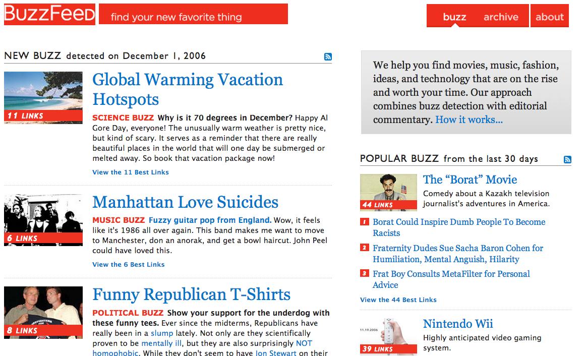 BuzzFeed、2006年