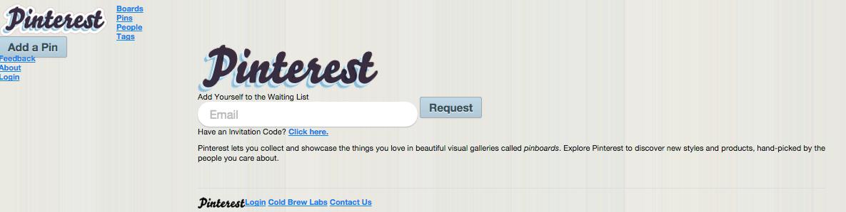 Pinterest、2010年