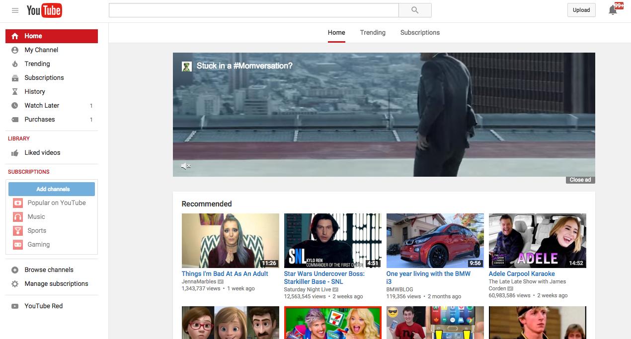 YouTube、現在