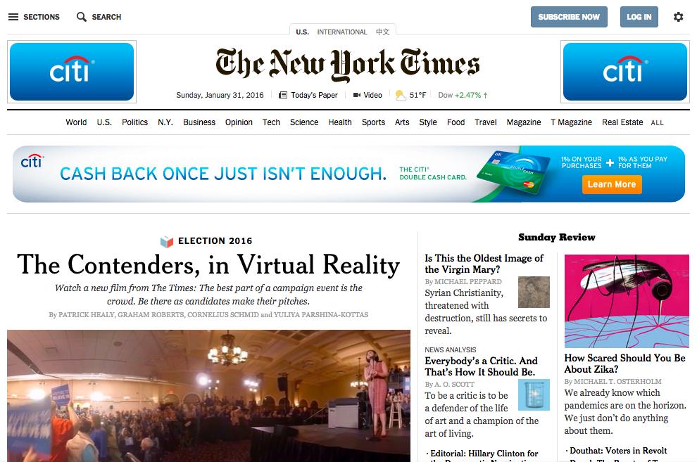 ニューヨーク・タイムズ、現在
