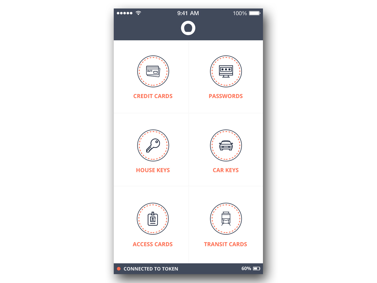 指輪用アプリの画面