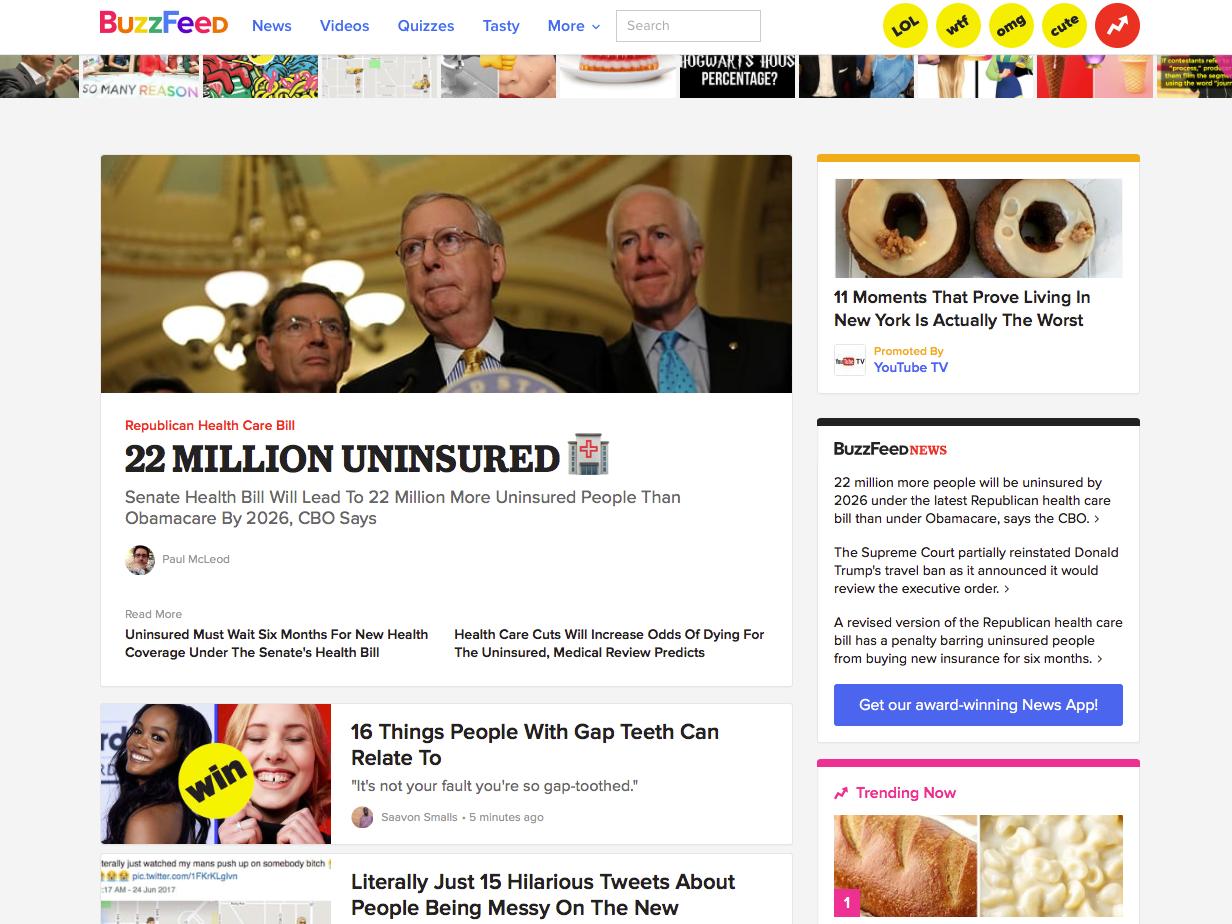 BuzzFeed、現在