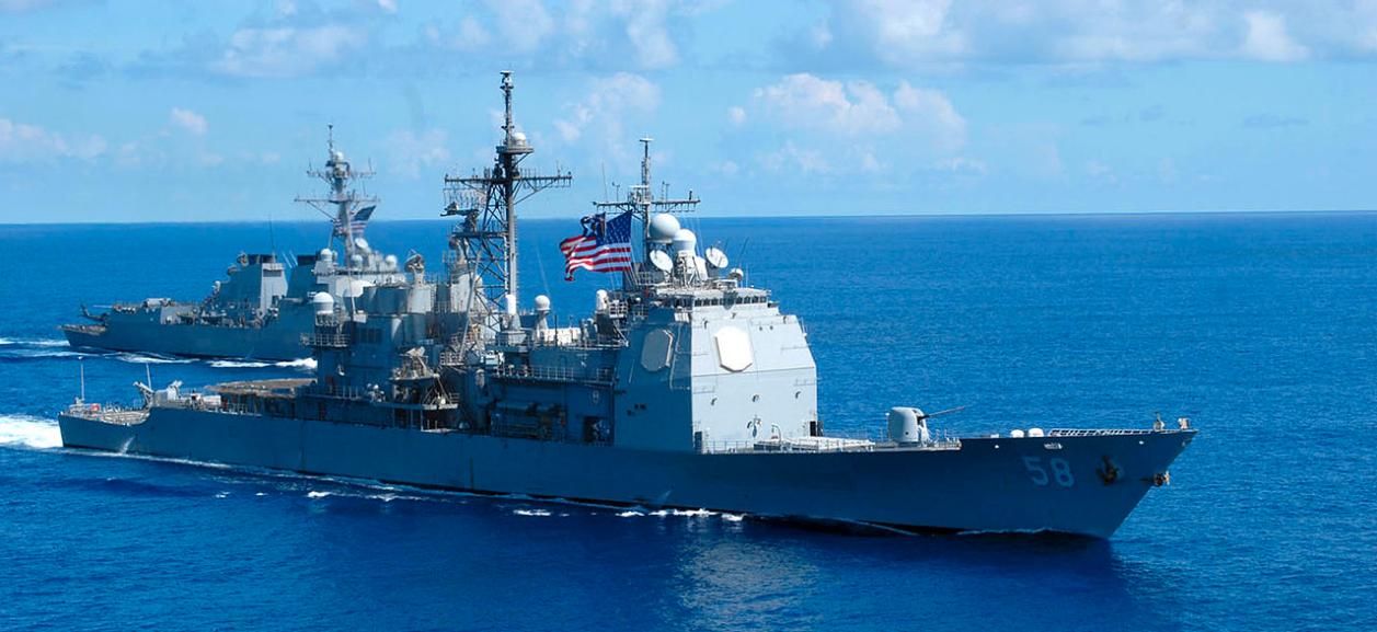 ミサイル巡洋艦フィリピン・シーと同バルクリー