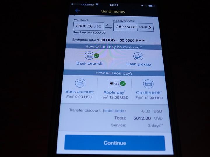ウエスタンユニオンの海外送金アプリ