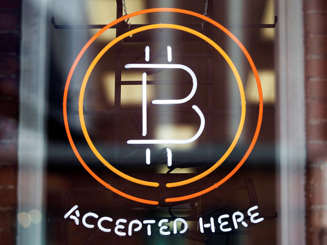 「ビットコインでの支払い可」の表示