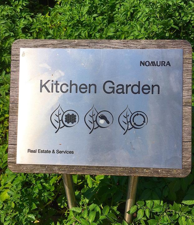 社内菜園の看板