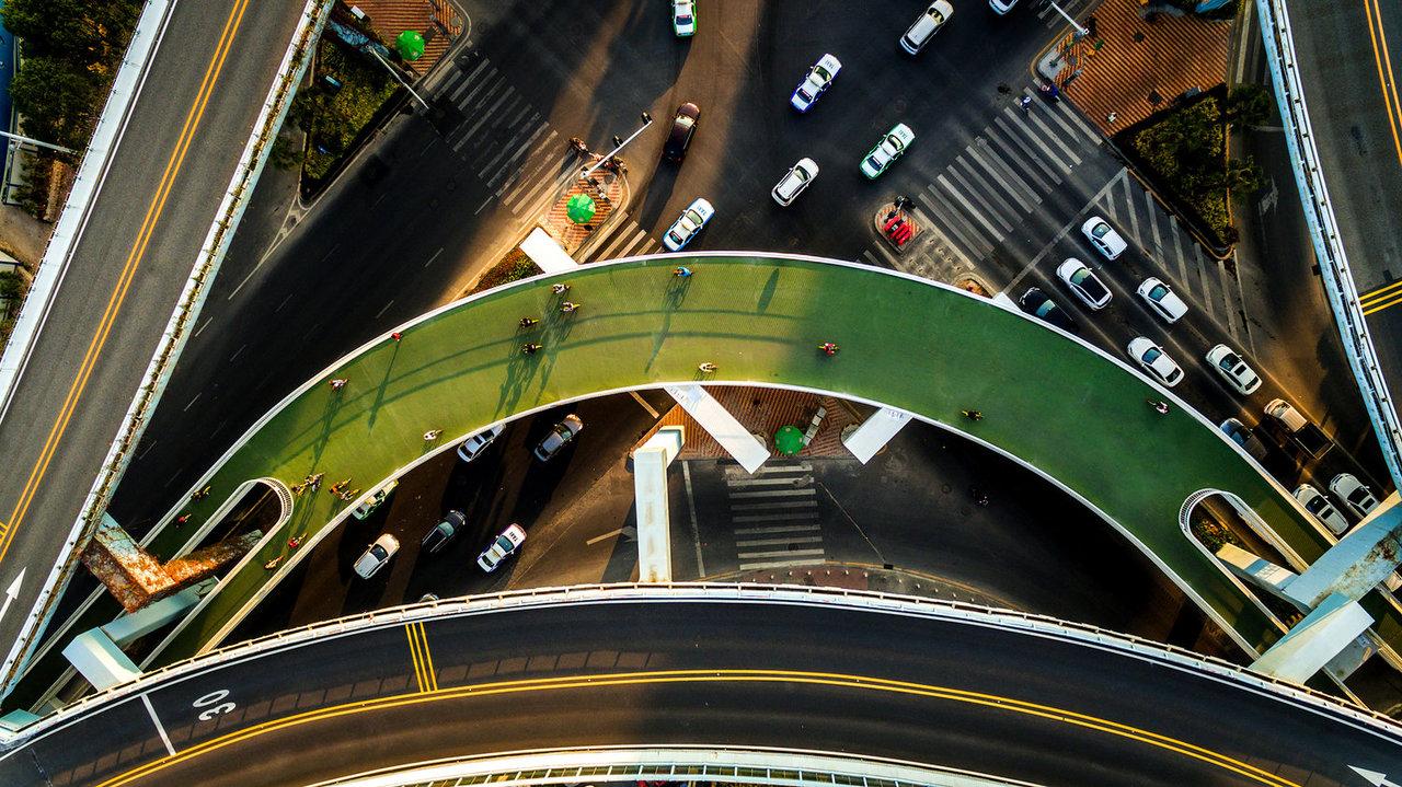 上空から見たスカイウェイ