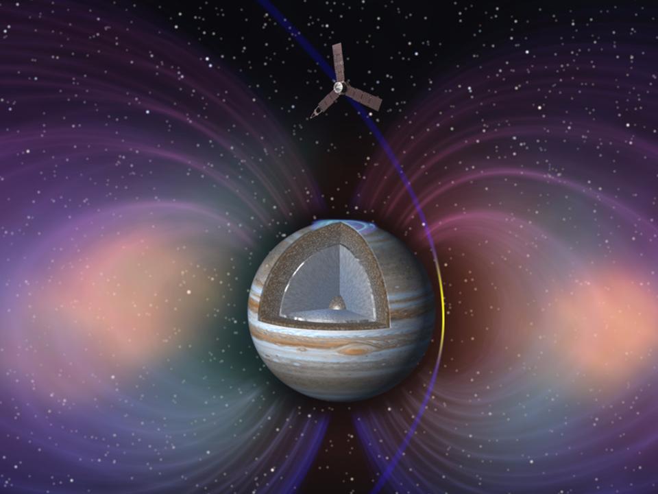 木星の放射線帯を通過するジュノー