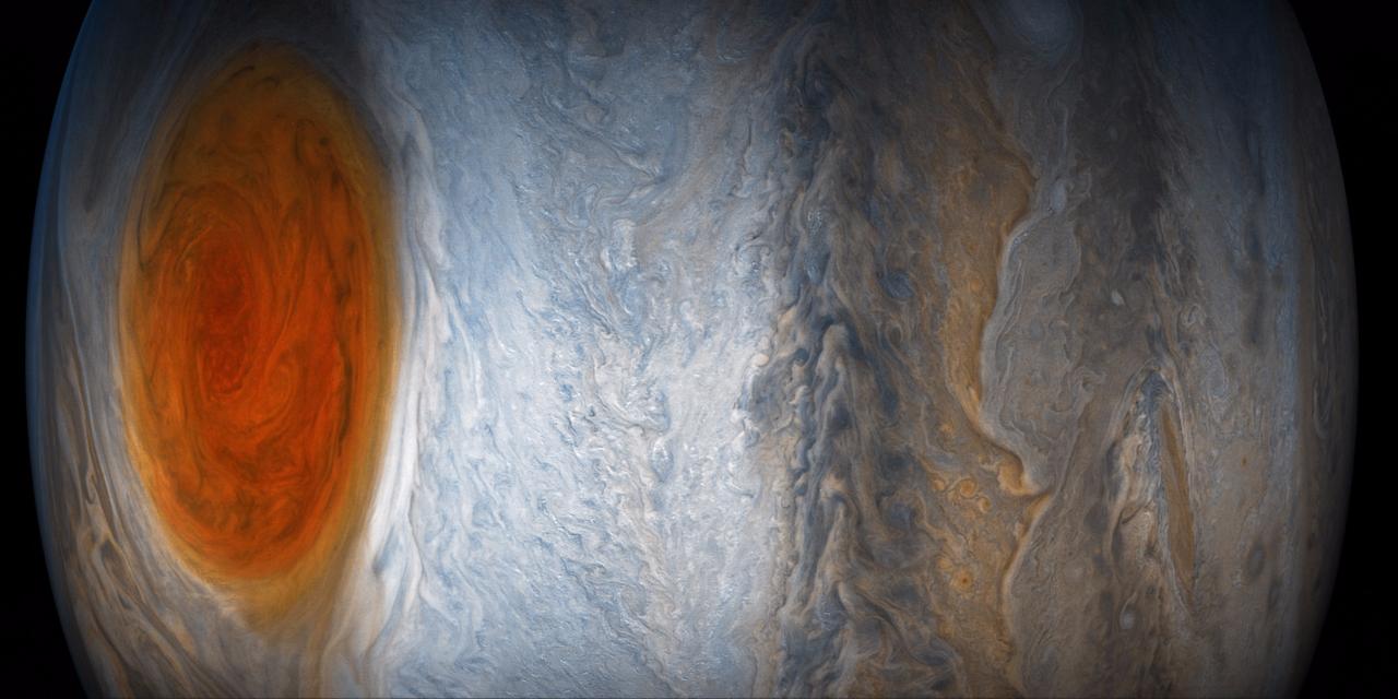 db781dce50761 科学者たちも酔いしれる木星の大赤斑 —— NASAが最新画像を公開 ...